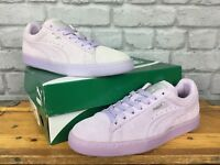 PUMA LADIES CLASSIC SUEDE MONO ICED PASTEL LILAC TRAINERS VARIOUS SIZES REDYE