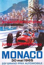 Monaco Grand Prix 1965 Poster A3 Size Advert Leaflet Sign - Fantastic!