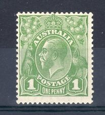 Australia 1928 1D sideface DIE 11 LMM