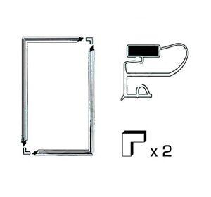 Universale Frigorifero Guarnizione Porta Kit Con Inserito Magnete Sistema