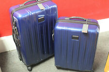 Tumi Pacific Blue Combo Spinners carry on Luggage  Expandable Hard case *Deal*