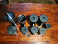 vintage set 10 pcs LOMO OKC USSR  projection lens 35mm film movie  65-140MM