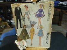 McCall's 6420 Barbie & Ken Doll Clothes Pattern