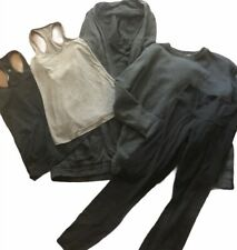 Lot of 5 LULULEMON Tank Tops Sweatshirt Leggings & Hooded Wrap Coat size 4/6