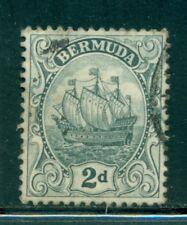 BERMUDA 43 SG47 Used 1913 1p gry Caravel Wmk Mult Crown CA Cat$20