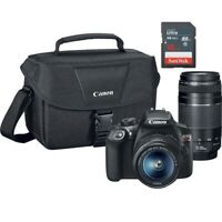NEW Canon EOS Rebel T6 Digital SLR with 18-55mm and 75-300mm + 16GB Card!