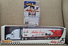 HOT WHEELS ASHLEY FORCE TRANSPORTER & DRAGSTER TOY STORE EXCLUS *NEW*