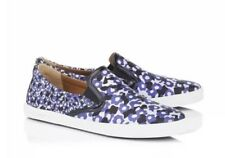 Jimmy Choo Demi Violet Floral Printed Jacquard Slip On Sneakers 41 10 *Free Ship