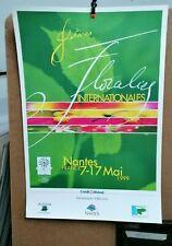 AFFICHE  ANCIENNE FLORALIES NANTES LOIRE ATLANTIQUE 1999