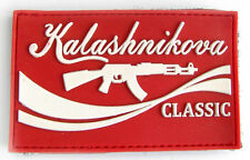 Kalashnikova Army Classic Red Morale 3D PVC Rubber Patch Kalashnikov AK 47 #578