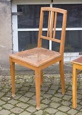 alter Jugendstil Küchenstuhl Holz Stuhl mit Korbgeflecht 20er Jahre Shabby Chic