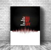 Canvas or Plaque - In the Air Tonight - Phil Collins - Song Lyric Wall Print Art