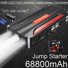 68800mAh 12V Jump Starter Car Emergency Charger Booster Power Bank Battery +Gift