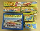 Vintage Lot of Matchbox Superfast Track and Toy Cars Boxed