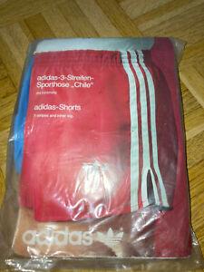 Vintage Oldschool ADIDAS Shorts CHILE glanz shiny Größe 4 neu OVP