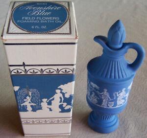 """Vntg 1970s Avon """"AVONSHIRE BLUE"""" Field Flowers Foaming Bath Oil FULL 6 oz. -NEW!"""
