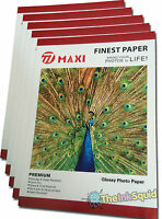 100 Sheets of A4 190gsm High-Quality Glossy Photo Paper for Inkjet Printers