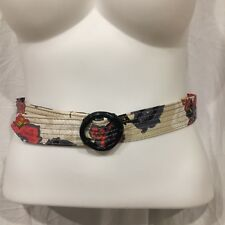 J Crew Belt Faux Bamboo Loop Multi-Colors Bright Fun Stylish Size S/M 40""