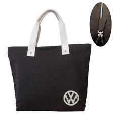 Oficial VW Lona Mujer Bolso Compras - Negro/Marrón