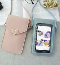 Shoulder Bag Card Wallet With strap Crossbody Pouch Leather Phone  Girl's Case