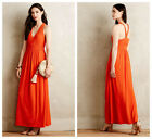 NEW Anthropologie Yuma Maxi Dress by Maeve, 0, 2, 4, 6, 14, Coral, Basketweave