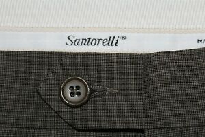 NWT $225 SANTORELLI Made in Italy 34 New Romeo Flat Front Wool Dress Pants