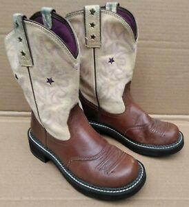 Ariat Brown Leather Boots Cowgirl Style 1001092 Size 7 B Well Used Still Solid
