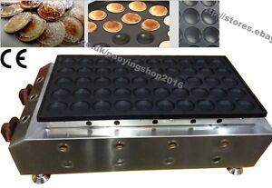 Nonstick Gas 50pcs 4.5cm Poffertje Mini Dutch Pancake Maker Iron Baker Machine
