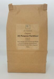 Dr Forest's Organic All-Purpose Fertiliser 5-4-3+Micro, Worm Castings & Seaweed