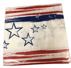 40 Patriotic Stars and Stripes Paper Lunch Napkins July 4 Party Celebration NEW