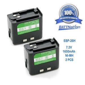 2x1650mAh EBP-20N EBP-24N EBP-26N Battery for ALINCO DJ-180 DJ-480 DJ-580 DJ-582