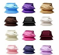 2 Pieces of Soft Charmeuse Satin Pillowcases, Multi Size/Color