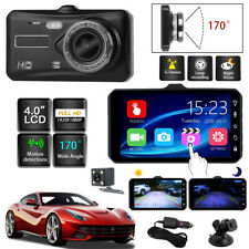 DVR 4inch 1080p Car Dual Lens Dash Cam Video Camera Recorder Night Vision UK