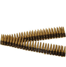 162cm Bullet Belt Military Ammo Fancy Dress Accessory Plastic 96 Bullets RAMBO