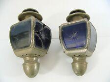 Ancienne paire lampe lanterne de calèche ,voiture ou fiacre BRC