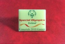 Pin Button SPECIAL OLYMPICS IRELAND LIMERICK 2010 GAMES Enamel Badge. SCARCE