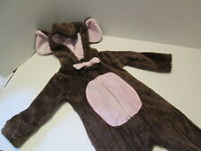 Mud Pie Brown and Pink Ribbed Minky Bunting One-Piece, Size 0-6 Months, NEW