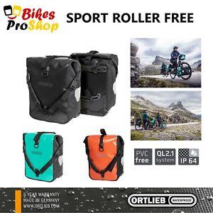 ORTLIEB Sport Roller FREE (Pair) - Bike Bicycle Panniers Bags GERMANY 2021