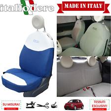 FODERE 500 SU MISURA! COPRISEDILI 500 Fiat Foderine 500 COMPLETE Blu/Bianco