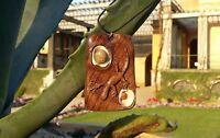 Kette Anhänger Holzschmuck Walnuss Holz Unikat