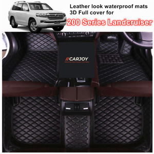 3D Customized Waterproof Car Floor Mats for Toyota Landcruiser 200 series black