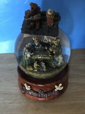 Boyds Noah And The Ark Builders Water / Sparkle Globe~ Plays Singing In The Rain