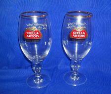 Lot of 2 COMMEMORATIVE STELLA ARTOIS Belgian BEER IONIC GLASSES 0.5L