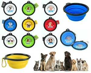 Personalised Collapsible Pet Dog Silicone Bowl Portable Foldable Water Food Bowl