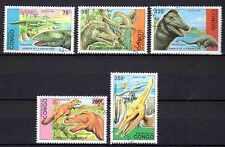 Animaux Préhistoriques Congo (6) série complète 5 timbres oblitérés