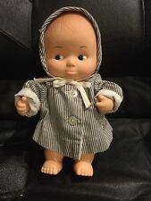 Vtg Uneeda baby doll all vinyl soft body 9� Hong Kong