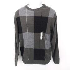 Haggar Men's Small Soft Acrylic Gray Fall Sweater Crewneck NWT