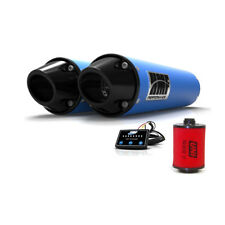 HMF Can-Am Renegade 1000 2016 Octane Blue/Blk Dual Slip On Exhaust + EFI + UNI