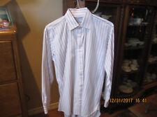 Charles Tyrwhitt  Men's Pink w/Navy Stripes L/S Dress Shirt-16 X 35
