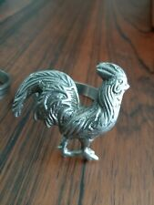 Rooster Napkin Holder Rings Set of 4 Country Farmhouse Kitchen Decor